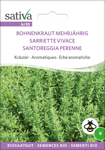 Bohnenkraut, mehrjährig (Bio-Saatgut)