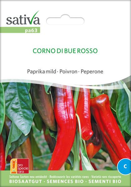 Paprika CORNO DI BUE ROSSO (mild) (demeter-Biosaatgut psr)