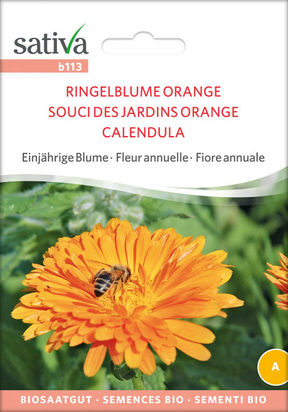 Ringelblume, Orange (demeter-Biosaatgut)