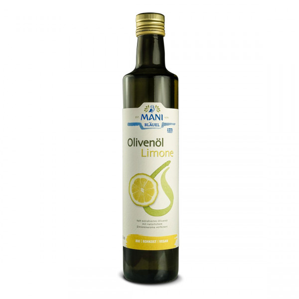 MANI - Koroneiki Olivenöl mit Zitrone (bio)