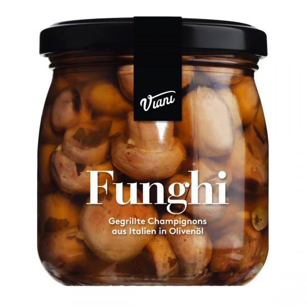 FUNGHI - Gegrillte Champignons in Olivenöl