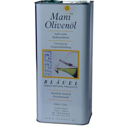 Olivenöl - KORONEIKI, Bläuel 5 Liter Kanister, Mani