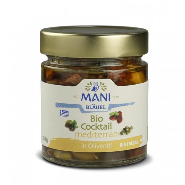 MANI Bio Cocktail mediterran in Olivenöl, bio, 180g Glas