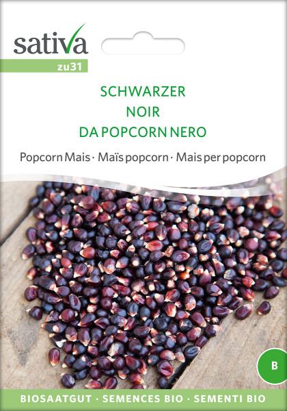 Mais, Schwarzer Popcorn Mais (Bio-Saatgut)