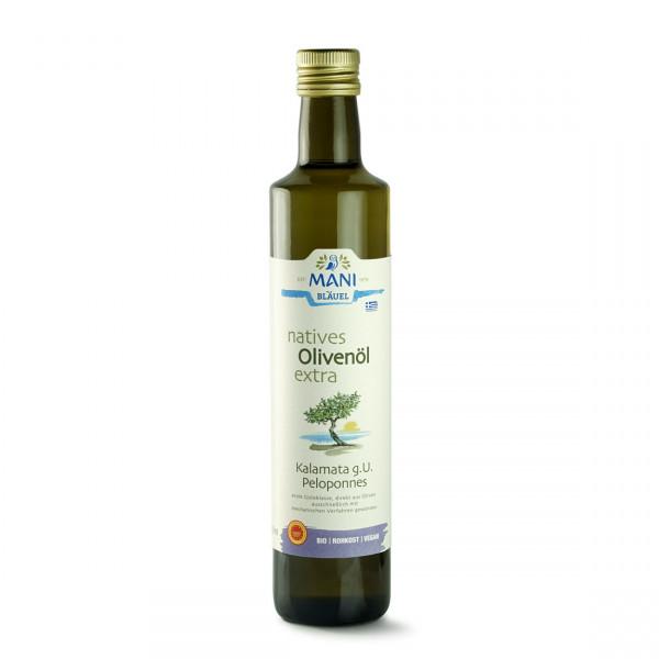 MANI Kalamata Olivenöl g.g.A. - aus der Koroneiki Olive (bio) 500 ml