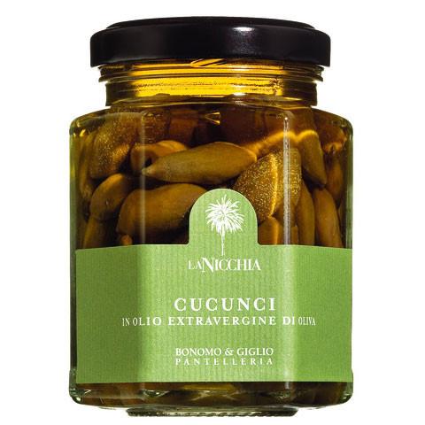 Kapernäpfel in nativem Olivenöl extra /Pantelleria