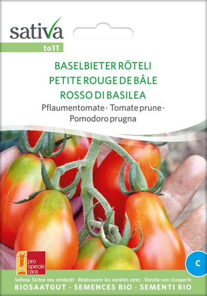 Tomate BASELBIETER RÖTELI (demeter - Saatgutrarität)