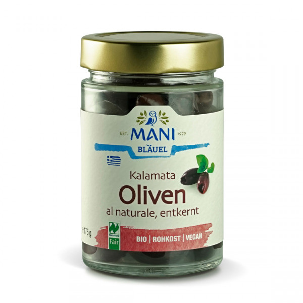 MANI - Kalamata Oliven al Naturale, entkernt (bio)