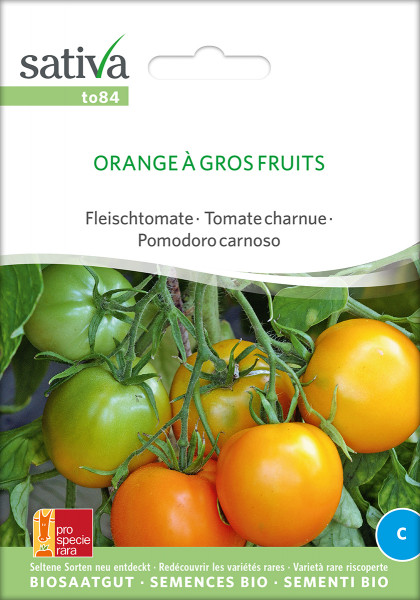 Tomate ORANGE A GROS FRUITS (demeter-Saatgutrarität/PSR)