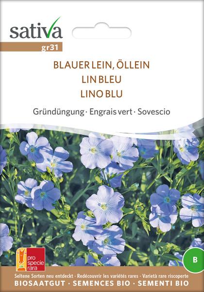 Lein, blauer Öllein (Bio-Saatgut)