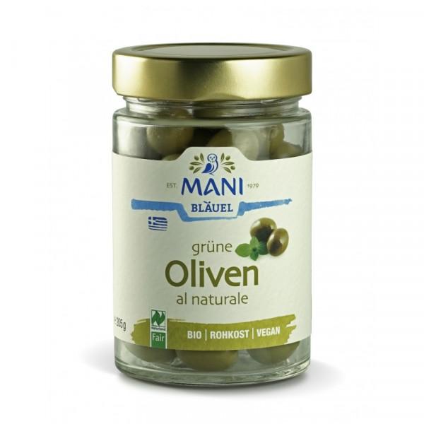 MANI - Grüne Amfissa Oliven al Naturale (bio)