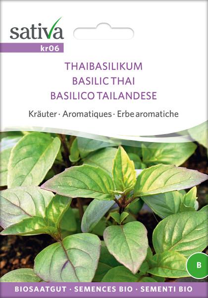 Basilikum, Thaibasilikum (Bio-Saatgut)