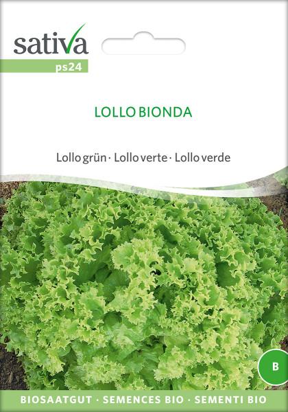 Pflücksalat 'LOLLO BIONDA' (demeter Biosaagut)