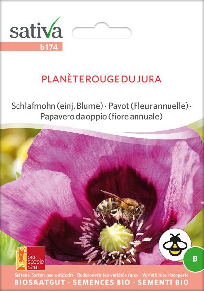 Schlafmohn - PLANETE ROUGE DU JURA (Bio-Saatgut/ PSR)