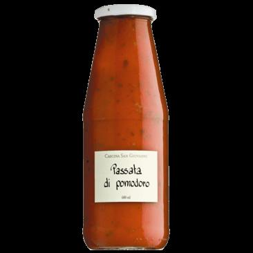 passierte Tomaten mit Basilikum, Passata di Pomodoro