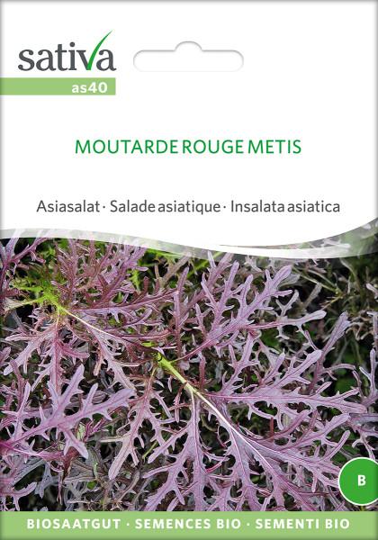 Asiasalat - MOUTARDE ROUGE METIS (Bio-Saatgut)