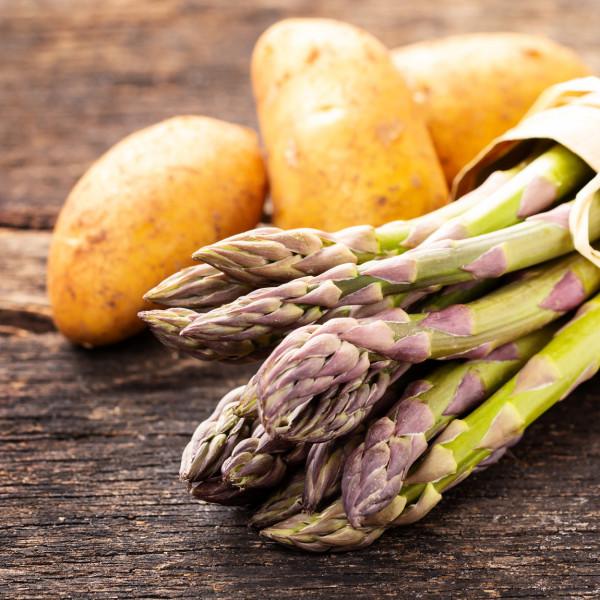 Spargelpaket mit Bio-Spargel (1kg) + 5 kg STARLETTE Inselkartoffeln und AMALFI Zitronen
