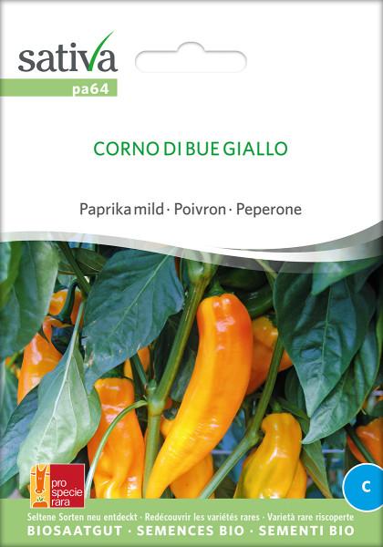Paprika CORNO DI BUE GIALLO (Saatgut - demeter/PSR)