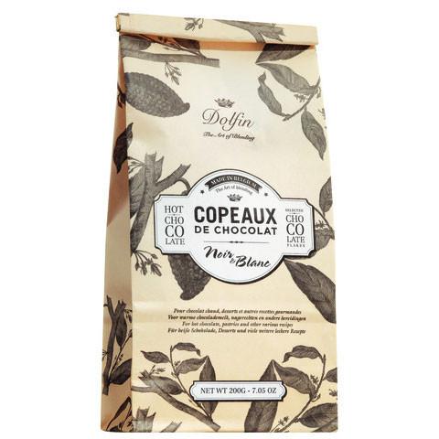 Copeaux de Chocolat, Schokolade-Flocken schwarz & weiß