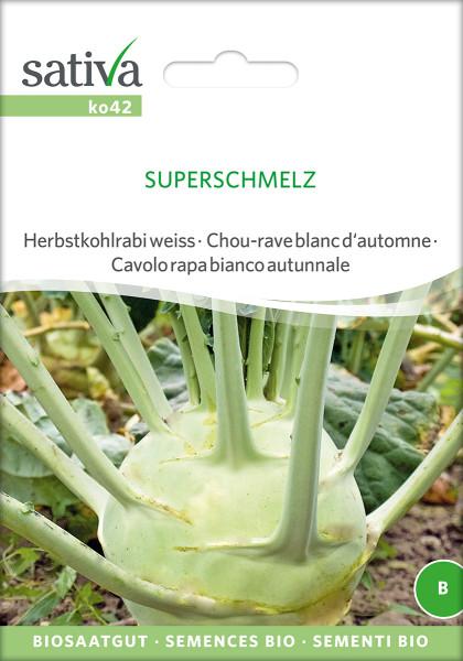 Kohlrabi 'SUPERSCHMELZ' (demeter-Biosaatgut)