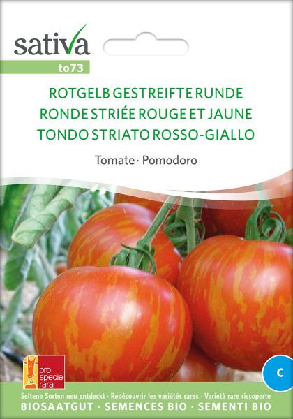 Tomate ROTGELB GESTREIFTE RUNDE (Saatgut demeter/PSR)