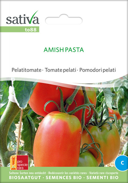 Tomate AMISH PASTA (demeter-Biosaatgut; Tomatenrarität /PSR)