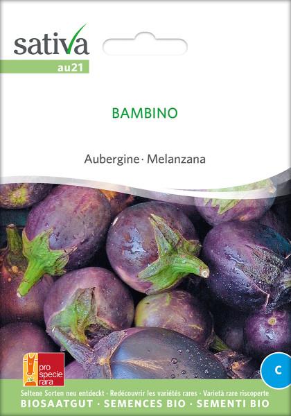 Aubergine BAMBINO (Saatgut demeter/PSR)