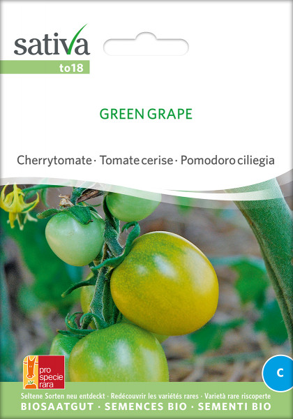 Freilandtomate GREEN GRAPE (Bio-Saatgut/PSR)