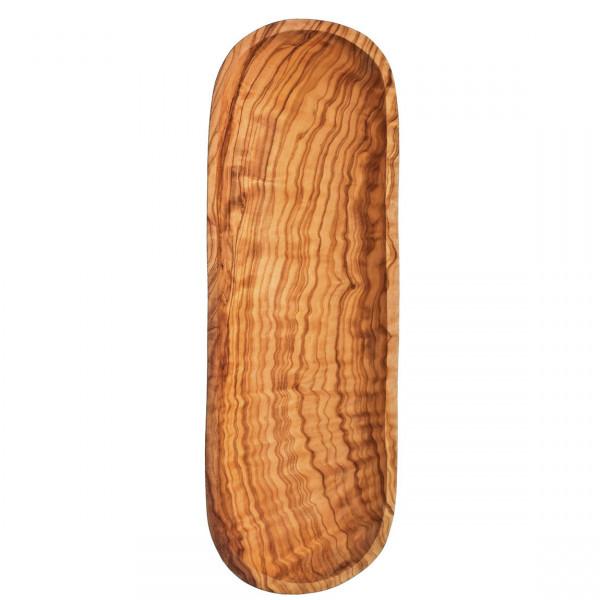 Baguette- und Brotschale aus Olivenholz