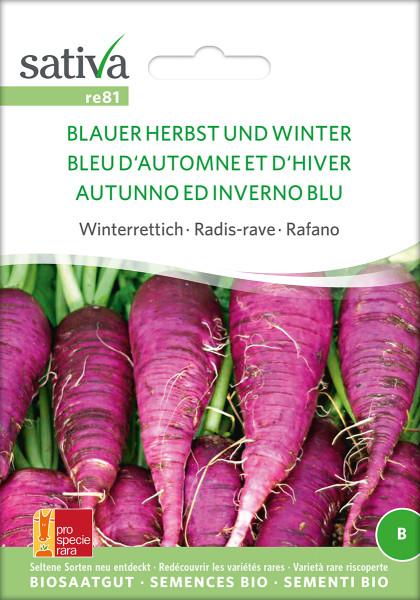 Rettich BLAUER HERBST UND WINTER (Bio Saatgut/PSR)