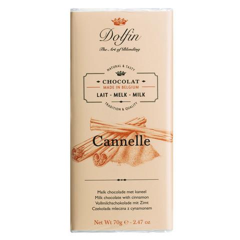 Vollmilchschokolade mit Zimt aus Ceylon von Dolfin/Belgien