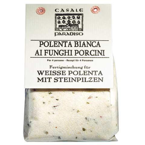 Polenta, weiss mit Steinpilzen