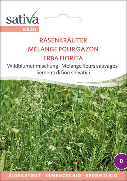 Wildblumenmischung, RASENKRÄUTER (Biosaatgut)