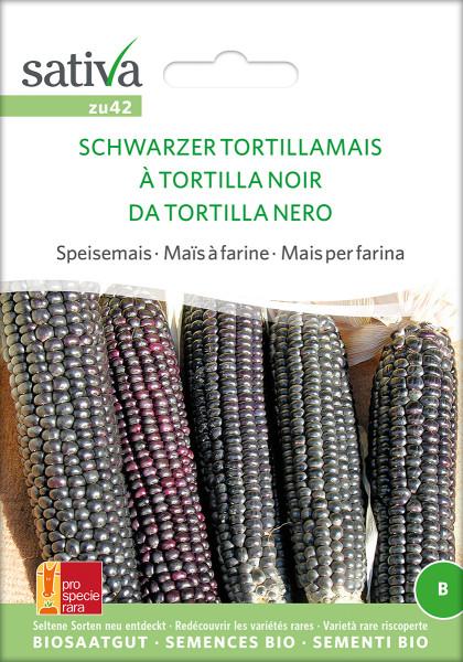Mais, Schwarzer Tortillamais (Bio-Saatgut)