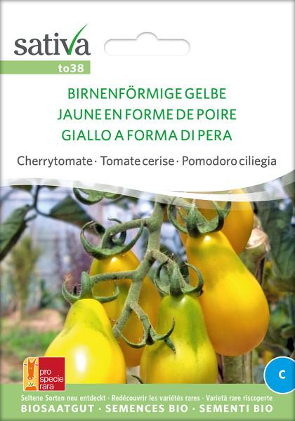 Tomate Birnenfoermige Gelbe Cherry (Biosaatgut)