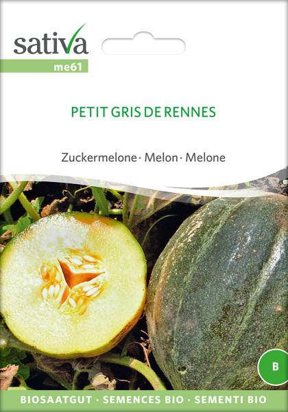 Melone 'PETIT GRIS DE RENNES' (Bio-Saatgut)