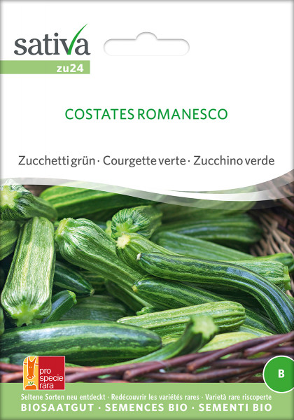 Zucchini COSTATA ROMANESCO (Bio-Saatgut) PSR