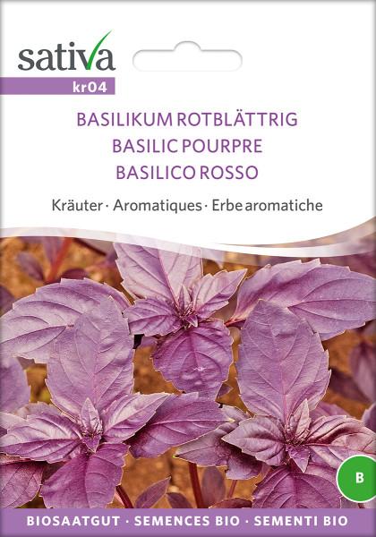 Basilikum rotblättrig (Biosaatgut)