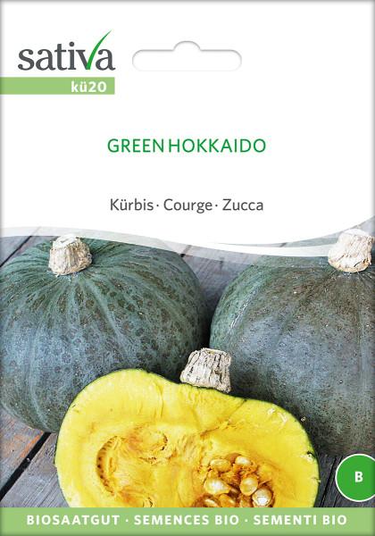 Kürbis 'GREEN HOKKAIDO' (Saatgut - demeter)