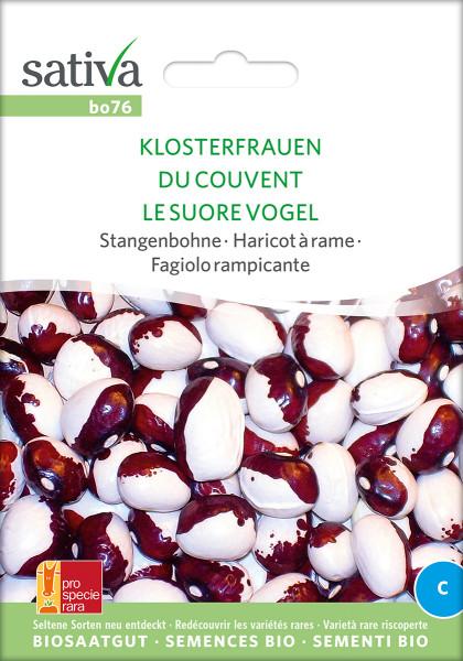 Stangenbohne KLOSTERFRAUEN (Bio-Saaatgut/PSR)