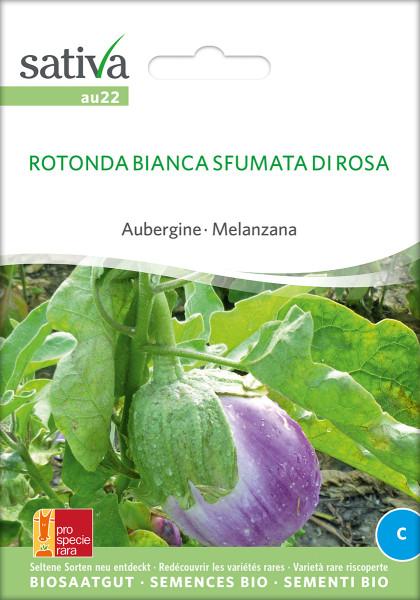 Aubergine ROTONDA BIANCA SFUMATA (Saatgut demeter/PSR)